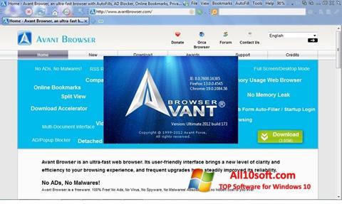 স্ক্রিনশট Avant Browser Windows 10