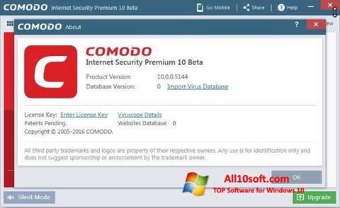স্ক্রিনশট Comodo Windows 10