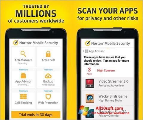 স্ক্রিনশট Norton Mobile Security Windows 10