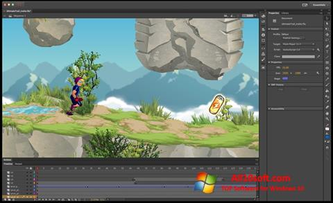স্ক্রিনশট Adobe Flash Professional Windows 10