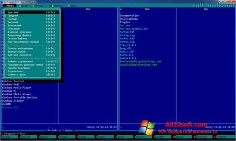স্ক্রিনশট Far Manager Windows 10