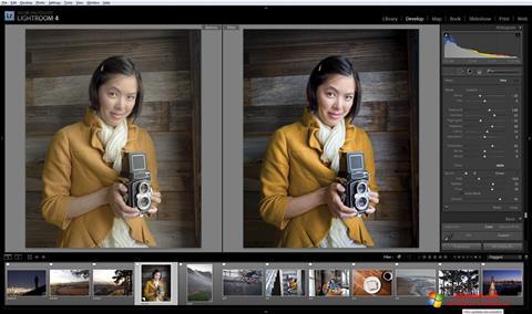 স্ক্রিনশট Adobe Photoshop Lightroom Windows 10