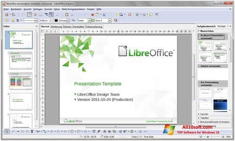 স্ক্রিনশট LibreOffice Windows 10