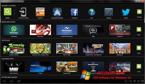 স্ক্রিনশট BlueStacks Windows 10