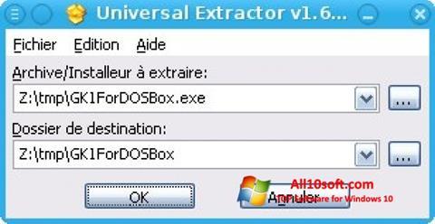 স্ক্রিনশট Universal Extractor Windows 10
