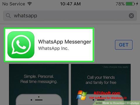 স্ক্রিনশট WhatsApp Windows 10