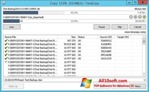 স্ক্রিনশট TeraCopy Windows 10