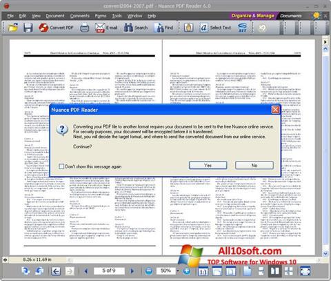 স্ক্রিনশট Nuance PDF Reader Windows 10