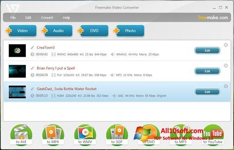 স্ক্রিনশট Freemake Video Converter Windows 10