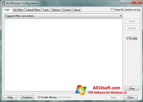 স্ক্রিনশট Ad Muncher Windows 10