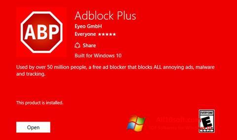 স্ক্রিনশট Adblock Plus Windows 10